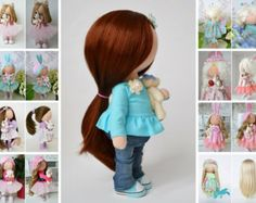 Panenka Decor doll Soft doll Bambole Rag doll Muñecas Textile