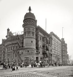 """The Casino Theater on Broadway - I suspect that the architect was 1) on the verge of a nervous breakdown, or 2) """"on the dope."""" Just look at this Moorish nightmare! Could be be any busier? Or in worst taste? Clearly, they saw things differently 112 years ago."""