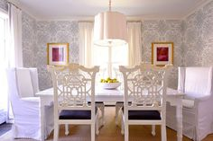 even slipcovered dining chairs can be elegant and refreshing! Home With Keki: Slipcovered Dining Chairs // Must Have Monday