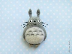 My Neighbor Totoro - brooch by ~allim-lip on deviantART