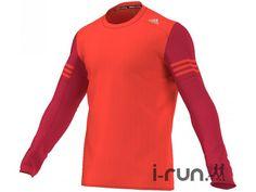 Le tee-shirt à manches longues adidas Response orange fluo et rouge (Collection Automne/Hiver) pour homme est idéal pour vos entraînements quotidiens de course à pied mais également pour vos semi-marathons.