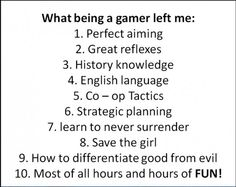 What a gamer left me.