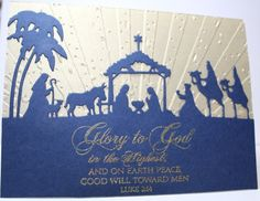 Nativity Scene by Leenda - Cards and Paper Crafts at Splitcoaststampers