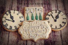 New Years Eve Cookies 2013 Clocks Fancy Cookies, Iced Cookies, Cute Cookies, Royal Icing Cookies, Holiday Cookies, Cupcake Cookies, Sugar Cookies, Cookie Frosting, Vintage Cookies