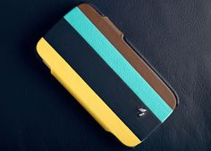 A fun and unique phone design that will be a great conversation starter is the Stripes case for your Galaxy S4. This leather case will protect your Samsung device from daily wear in an elegant protective cover