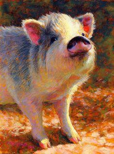 Rita Kirkman | PASTEL | Petuna Animal Paintings, Animal Drawings, Pastel Paintings, Pig Art, Barnyard Animals, Rabbit Art, Chalk Pastels, Pastel Art, Art Plastique