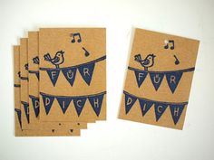 5 gift tags - Für Dich - 100% Recycling paper - by SiebenMorgen