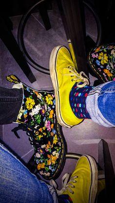 Docs Docter Martens Vans flowers socks