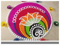 Rangoli Ki Design, Indian Rangoli Designs, Rangoli Designs Latest, Rangoli Designs Flower, Free Hand Rangoli Design, Small Rangoli Design, Rangoli Patterns, Rangoli Ideas, Rangoli Designs With Dots