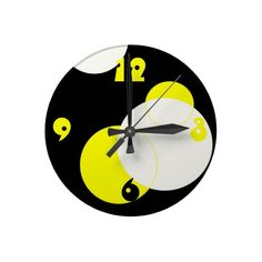 """$20.40 BUT get 15% off with code at checkout: HAPPYLOVEDAY """"Circles"""" Clock"""