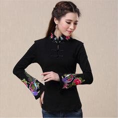 Brand 2017 New Spring Women Shirts Harajuku Femme Chinese Style Pullover Blouse Shirt Embroidery Tops Tee Blusas Camisetas Mujer-in Blouses & Shirts from Women's Clothing & Accessories on Aliexpress.com | Alibaba Group