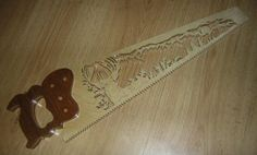 """Handsaw  Handle 1"""" oak.  Blade 1/4"""" Baltic birch plywood. Finished with clear lacquer."""
