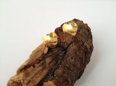 Sterling silver Heart Earrings with 24ct Gold by silvermeadows, £30.00