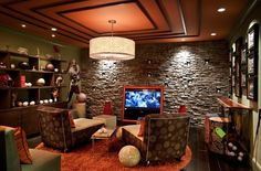 Cam's favorite basement.   @http://www.houzz.com/photos/105707/Sports-Themed-Media-Room-eclectic-media-room-dc-metro