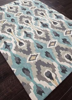 Bea Rug in Gold & Blue