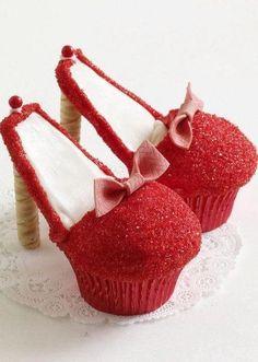 shoe cupcakes :)