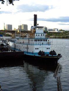 boat on the Williamette River - Portland, Oregon