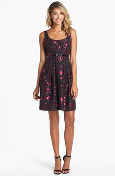 Eliza J Brocade Fit & Flare Dress (Regular & Petite) available at #Nordstrom $138 - super cute and fun