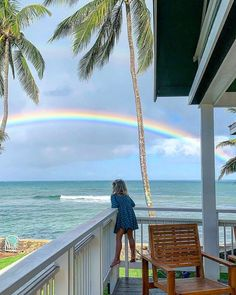 There is a rainbow that seems to visit our home a couple times a week..Just to let us know everything is okay.. /// #family #bucketlist #travel #home #hawaii #surf #jaws /// @dorothygee @thebucketlistfamily