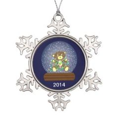 Snow Globe Bear from Zazzle.com - New Pewter Ornament!