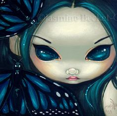 Fairy Face 17 Jasmine Becket-Griffith SIGNED 6x6 PRINT