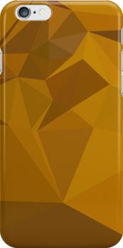 Curry Yellow Abstract Low Polygon Background by retrovectors