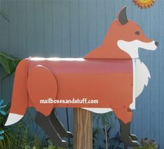 Offering a Red Fox Mailbox