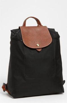 Longchamp 'Le Pliage' Backpack, Small available at - fun! I didn't know they did backpacks! Longchamp Le Pliage, Longchamp Backpack, My Bags, Purses And Bags, Black Backpack, Small Backpack, Mini Backpack, Backpack Bags, Travel Accessories