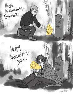 I don't even ship johnlock at all because all the fanart and fanfics are so creep-tacular but this is WAY TOO SAD