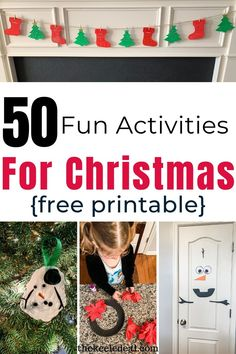 Get a list of 50 fun activities for Christmas. This printable list has 50 fun and different activities to enjoy this Christmas as a family. These activities are a great way to make memories with your kids. Christmas Activities, Fun Activities, Christmas Crafts, Christmas Decorations, Winter Christmas, Holiday, Some Ideas, Free Printables, Things To Do