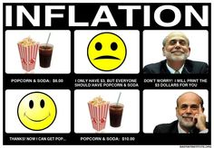 Example how the U.S. Federal Reserve and Federal Government cause inflation. Ben Bernanke laughs at us while he plays god.