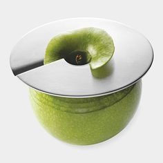 Geez i need this!!! Fun Apple Slicer. Plus, if you only slice half an apple, you can leave the slicer in place and keep the rest from going brown