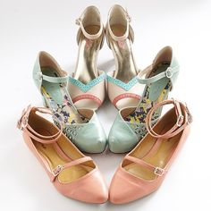 Breaking out the mint & blush hues to channel springtime vibes.  Which of these pastel pretties would you rock? #omgshoes #tuesdayshoesday