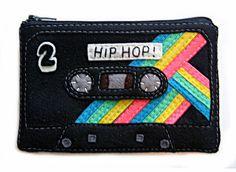 Mix Tape Pouch - Hip Hop Cassette Tape Zippered Wallet. $50.00, via Etsy.