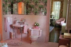 Hilly's pink bathroom in The Help