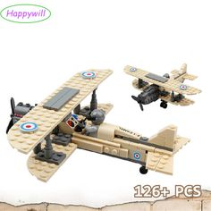 Happywill 82001 mega blocks compatible Royal Air Force  F-1 Camel Airplane 168pcs Building Block Boys Bricks Toy gift compatible