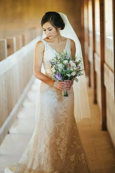 Moonlight Real Bride Lauren During Her Chic Rustic Wedding