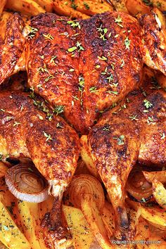 Roast Chicken, Tandoori Chicken, Mushroom Chicken, Greek Recipes, Fajitas, Meal Prep, Food And Drink, Cooking Recipes, Tasty