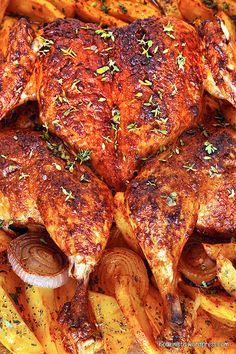 Roast Chicken, Tandoori Chicken, Mushroom Chicken, Greek Recipes, Fajitas, Chicken Wings, Meal Prep, Food And Drink, Beef