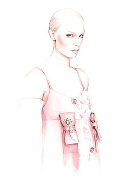 PRADA F/W 2016 fashion illustration by António Soares