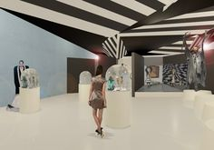 Tim Burton by Anna Cubillo, via Behance Tim Burton, Photo Wall, Anna, Bathtub, Behance, Frame, Home Decor, Exhibitions, Space