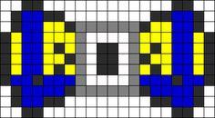 Minion Bow perler bead pattern
