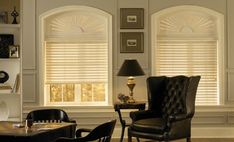 Graber Faux Wood Shutters -- Curated by: EuroTek Blind Factory Custom Blinds, Cellular Shades, Faux Wood Blinds, Wood Shutters, Window Treatments, Natural Wood, Commercial, Windows, Curtains