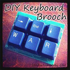 Tutorial: DIY Keyboard Key Brooch