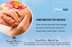 Complimentary Foot Massage at Bliss Spa