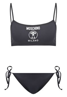MOSCHINO SWIM Bikini black Meer info via http://kledingwinkel.nl/product/moschino-swim-bikini-black/