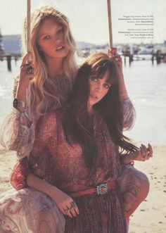 Editorial: From ELLE Australia October issue, the Zimmermann Arcadia Braid Sashay Dress from current season ready-to-wear, The Esplanade, and Empire Laced Dress from upcoming Resort Ready-to-Wear, Vanilla Empire.