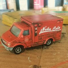 Made a little toy Nuka truck #nukacolaquantum #nukacola #falloutobsessed #theskimdotnet #skimpropsdotcom #skimprops #fallout #falloutcosplay #falloutprops #fallout3 #fallout4 #nukatruck #fallouttoys