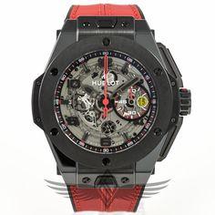 #Hublot Big Bang #Ferrari All Black Ceramic Case Skeleton Dial Chronograph Limited Edition Automatic Watch 401.CX.0123.VR #OCWatchCompany #WatchStore #WalnutCreek