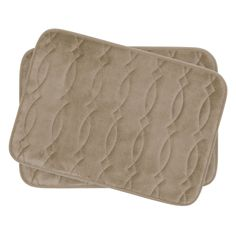 Grecian Small 2 Piece Plush Memory Foam Bath Mat Set